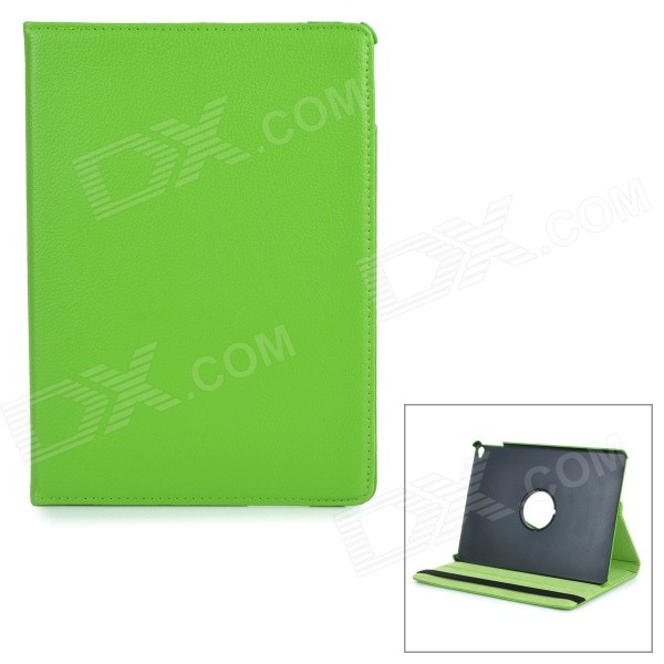 Protective Ultra-Slim PU Leather + ABS Plastic Case w/ Stand for IPAD AIR 2 - Green