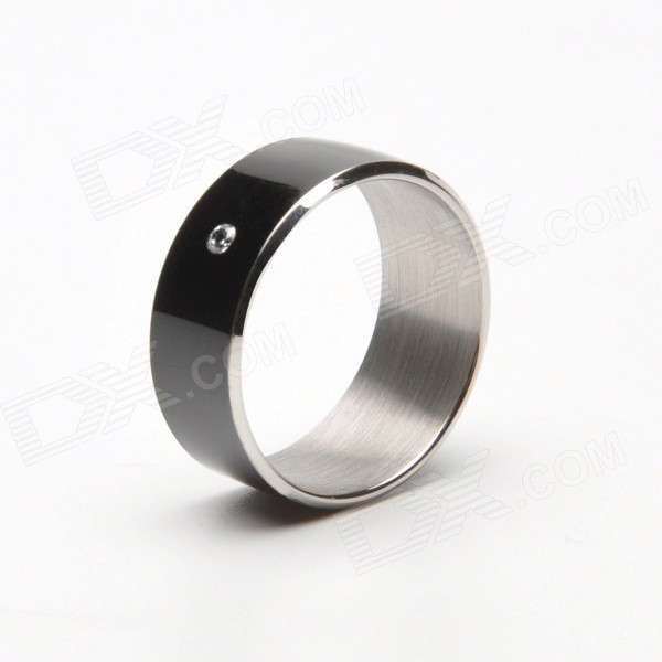 New Intelligent Magic Ring with NFC for Smart Phones - Black (Size 9)