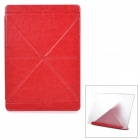 Protective PU Case w/ Transparent Plastic Back for IPAD AIR 2 - Red