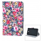 "Protective Flip-Open PU Case w/ Stand / Card Slot for 7.0"" Samsung Galaxy Tab 4 / T230 / T231 / T235"