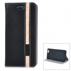 "Protective PU + PC Flip-Open Case w/ Card Slots for IPHONE 6 4.7"" - Black + White"