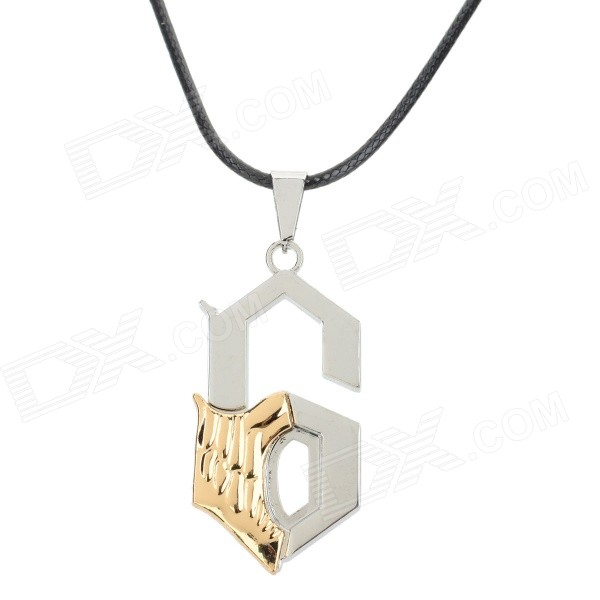 Fashion Number 6 Shaped Zinc Alloy Pendant Necklace - Silver 1toy настольная игра бильярд