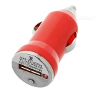 Car Cigarette Powered USB Adapter/Charger - Red (DC 12V/24V)