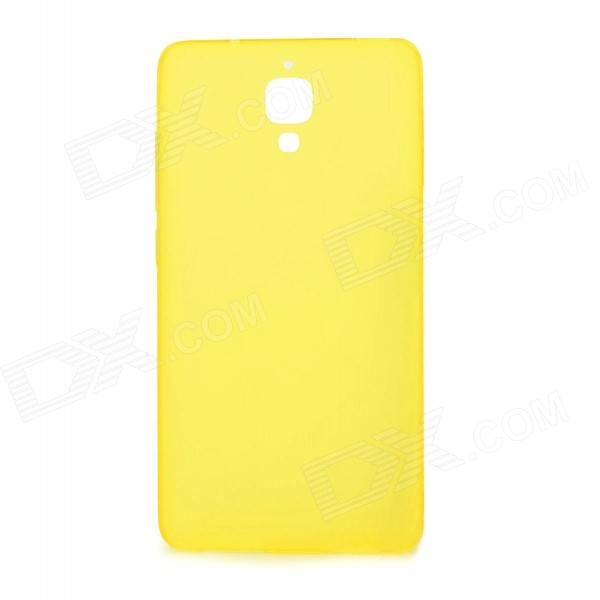 Matte TPU Back Cover Case Protector for Xiaomi Mi4 - Translucent Yellow original xiaomi 10000mah power bank silicone case charger protector cover white