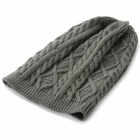 Women's Fashionable Autumn and Winter Warm Knitting Wool Hat - Grey