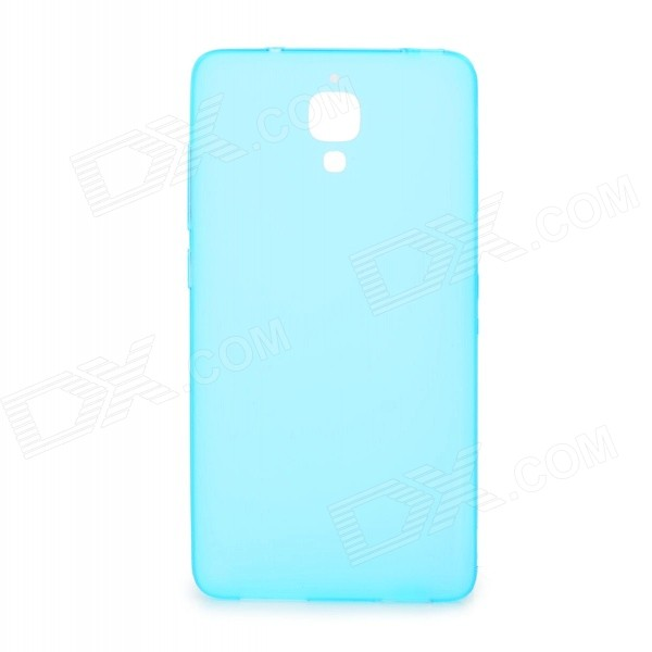 Matte TPU Back Cover Case Protector for Xiaomi Mi4 - Translucent Blue newsets mercury flash powder tpu protector case for iphone 7 4 7 inch baby blue