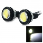 JRLED 3W 200lm 8000K 3-COB LED Cool White Light Screw Base Lamps - Silver + Black (DC 12V / 2 PCS)