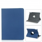 Rotary Protective Flip Open Case w/ Stand / Auto Sleep for IPAD AIR 2 - Deep Blue