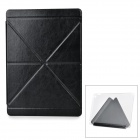 Protective PU Leather Case w/ Transparent Plastic Back for IPAD AIR 2 - Black