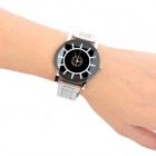 Novel Design Men's Steel Alloy Band Analog Quartz Watch - Silver + Black (1 x SR626)