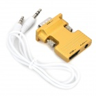 H78 HDMI Female to VGA Male Audio Convertor w/ 3.5mm Jack - Golden