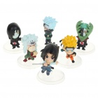 Naruto Anime Figures PVC Display Toys (6-Piece Pack)