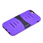 2-in-1 Protective Silicone + PC Back Case w/ Holder for IPHONE 6 - Purple + Black