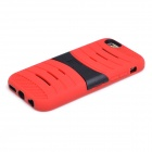 2-in-1 Protective Silicone + PC Back Case w/ Holder for IPHONE 6 - Red + Black
