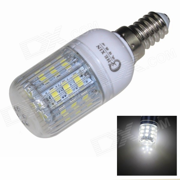 CXHEXIN E14CX24-5630 E14 5W 400lm 6000K 24-SMD 5630 LED White Corn Lamp - White (AC 85~265V) cxhexin e14cx24 5630 e14 5w 3000k 400lm 24 5630 smd led warm white light bulb white ac 85 265v