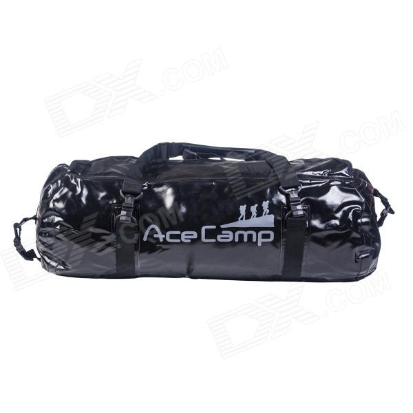 Acecamp 2464 Outdoor Sports Foldable Waterproof Bag Handbag - Black (40L)