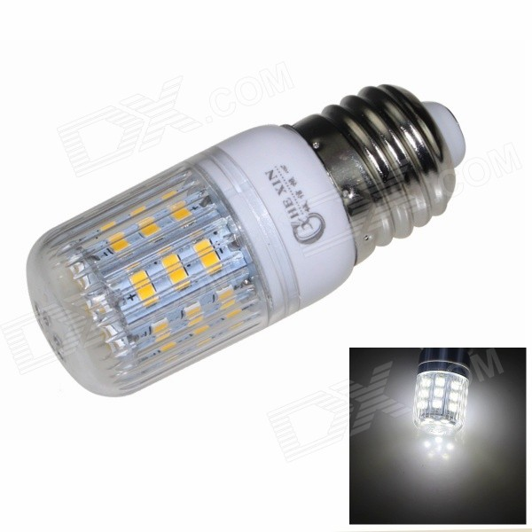 CXHEXIN E27CX24-5630 E27 5W 400lm 6000K 24-SMD 5630 LED White Corn Lamp - White (AC 85~265V) cxhexin e14cx24 5630 e14 5w 3000k 400lm 24 5630 smd led warm white light bulb white ac 85 265v