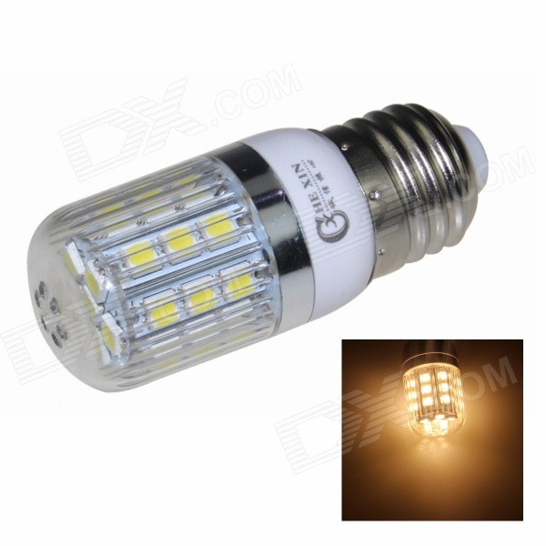 CXHEXIN E27CX27-5050 E27 5W 400lm 3000K 27-SMD 5050 LED Warm White Corn Lamp - White (AC 85~265V)E27<br>Form  ColorWhiteColor BINWarm WhiteBrandCXHEXINModelE27CX27-5050MaterialPlastic + acrylicQuantity1 DX.PCM.Model.AttributeModel.UnitPower5WRated VoltageAC 85-265 DX.PCM.Model.AttributeModel.UnitConnector TypeE27Chip BrandHugaChip Type5050Emitter Type5050 SMD LEDTotal Emitters27Actual Lumens400 DX.PCM.Model.AttributeModel.UnitColor Temperature3000KDimmableNoBeam Angle360 DX.PCM.Model.AttributeModel.UnitPacking List1 x Bulb<br>