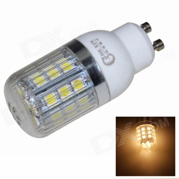CXHEXIN GU10CX27-5050 GU10 5W 400lm 3000K 27-SMD 5050 LED Warm White Corn Lamp - White (AC 85~265V)