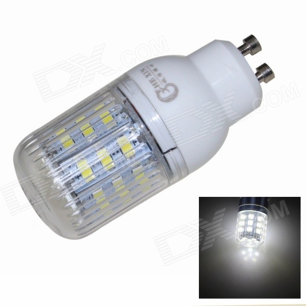CXHEXIN GU10CX24-5630 GU10 5W 400lm 6000K 24-SMD 5630 LED White Corn Lamp - White (AC 85~265V) cxhexin e14cx24 5630 e14 5w 3000k 400lm 24 5630 smd led warm white light bulb white ac 85 265v
