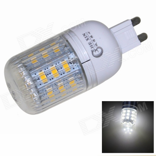 CXHEXIN G9CX24-5630 G9 5W 6000K 400lm 24-5630 SMD LED White Light Bulb - White (AC 85~265V) cxhexin e14cx24 5630 e14 5w 3000k 400lm 24 5630 smd led warm white light bulb white ac 85 265v