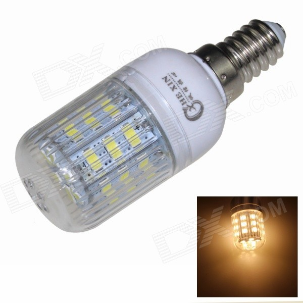 CXHEXIN E14CX24-5630 E14 5W 3000K 400lm 24-5630 SMD LED Warm White Light Bulb - White (AC 85~265V) cxhexin e14cx24 5630 e14 5w 3000k 400lm 24 5630 smd led warm white light bulb white ac 85 265v