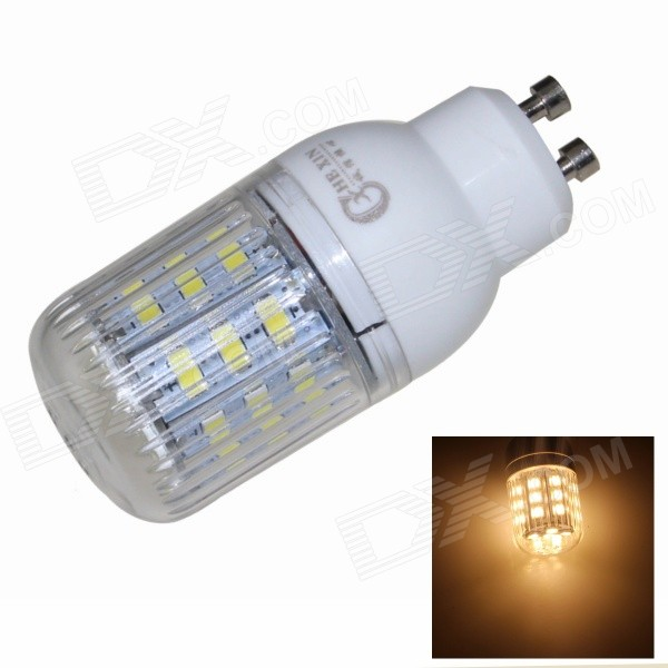 CXHEXIN GU10CX24-5630 GU10 5W 3000K 400lm 24-5630 SMD LED Warm White Light Bulb - White (AC 85~265V) cxhexin s27 8 e27 8w 560lm 3000k 5630 smd led warm white light bulb white silver ac 85 265v
