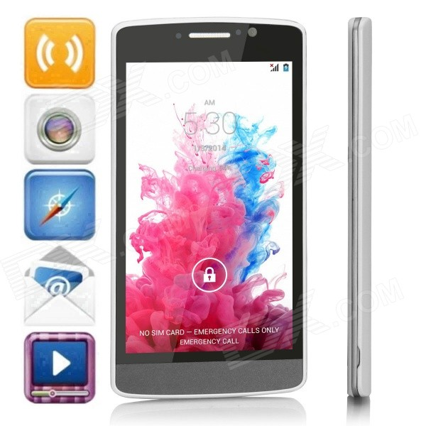G3+(G3) Dual-core Android 4.4.2 WCDMA Bar Phone w/ 5.0