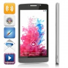 "G3+(G3) Dual-core Android 4.4.2 WCDMA Bar Phone w/ 5.0"", 4GB ROM, Wi-Fi, GPS - White + Black"