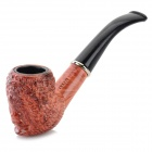 801 2-Section Retro Carving Filter Tobacco Smoking Pipe - Black + Brownish Red