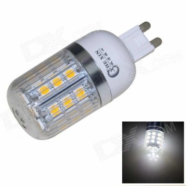 CXHEXIN G9CX27-5050 G9 5W 400lm 6000K 27-SMD 5050 LED White Corn Lamp - White (AC 85~265V)