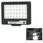 S60 1.2W 5600K White Light 32-LED Video Fill Light / Supplement Lamp for Mobile Phones - Black