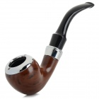 608 2-Section Retro Style Filter Tobacco Smoking Pipe - Black + Brown