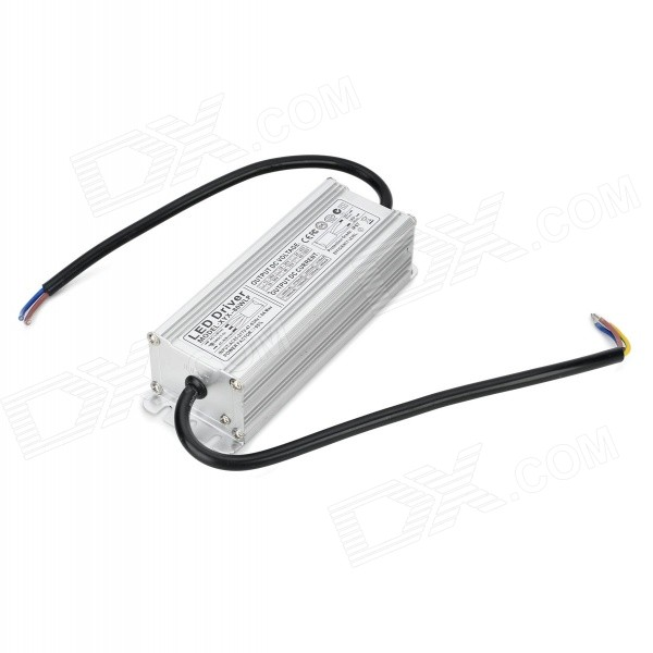 2.2A 80W Waterproof LED Driver - Silvery White + Black (AC 85~277V) 18w led constant current power supply driver blue beige ac 85 277v