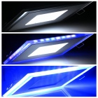 700lm 10W LED 14-5630 blanco + 12-2835 Blue LED luz regulable Sqaure Panel (AC 85 ~ 265V)