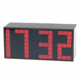 Digital Desk LED Calendar Alarm Clock with Temperature Display - Red Light (AC/4*AA Powered)