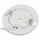20W 1280lm 30-5630 LED blanco + 18-2835 LED azul Dimmable luz del panel redondo (AC 85 ~ 265V)