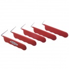 NEJE 5-in-1 Professional Lock Pick Tools Kit - Red