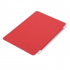 Ultra-thin Protective PU + Plastic Cover w/ Auto Sleep Function for IPAD AIR - Red