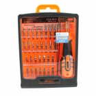 JAKEMY JM-8100 32-in-1 Omnipotent Repairing Screwdriver Tools Set - Black + Orange + Silver