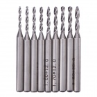 NEJE ZJ0033-2 9-in-1 1.2~2.0mm Tungsten Steel Drill Bits Set for CNC / PCB - Silver