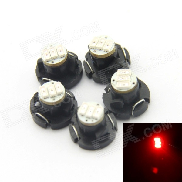 D&Z DZ-T4.2-3R T4.2 0.18W 15lm Red Light 3-3014 SMD LED Instrument Lamp (DC12-15V, 5 PCS) рекламный щит dz 5 1 j1d 081 jndx 1 s d