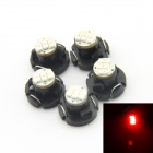 D&Z DZ-T4.2-3R T4.2 0.18W 15lm Red Light 3-3014 SMD LED Instrument Lamp (DC12-15V, 5 PCS)