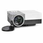 GM50 1080p HD Home Theater LED Projector w / SD / HDMI / VGA / AV / USB - Wit + Zilvergrijs