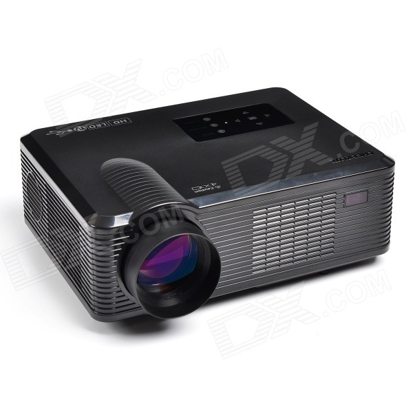 CHEERLUX CL740-BK LCD Home Theater Projector w/ LED, Analog TV, VGA, YPbPr, HDMI, EU Plug - Black
