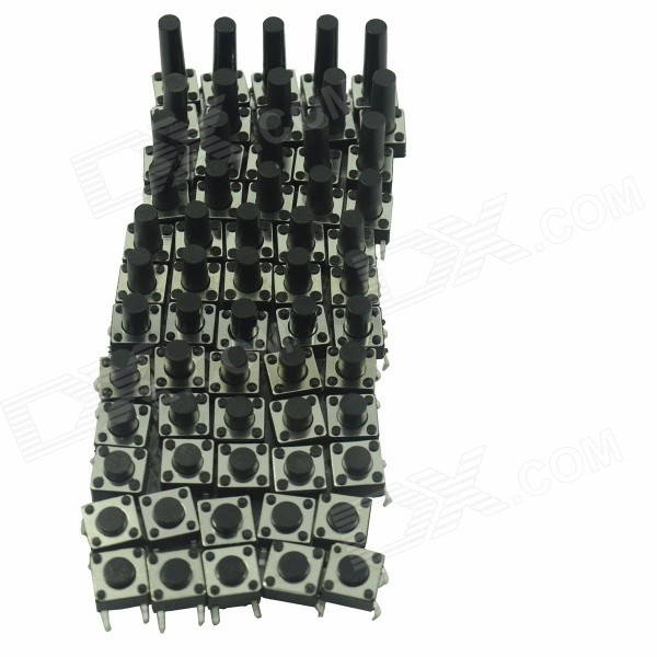 DIY Key Switches - Black (12 x 5 PCS) dmiotech 20 pcs spare part spring type electric drill motor carbon brushes 10mm 11mm 13mm 17mm 6mm 7 5mm 7mm
