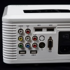 CHEERLUX CL740WT LCD Home Theater Projector w / LED, Analoge TV, VGA, YPbPr, HDMI, US Stekkers-White