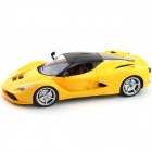 27MHz 2-CH 1:14 Scale A Key Switch Doors Steering Wheel Remote Control Car w/ Lamp - Yellow + Black