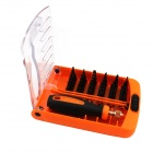 JAKEMY JM-8108 37-in-1 Precision Repairing Screwdriver Set Tools - Black + Orange + Plating Red
