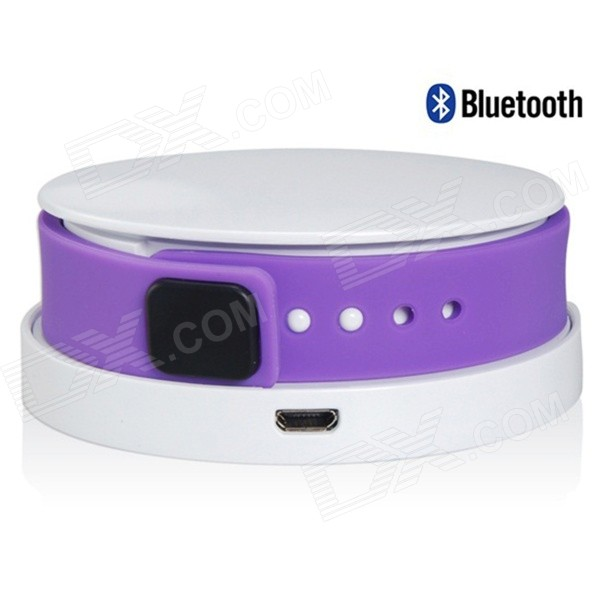 I7 Waterproof Bluetooth V4.0 Smart Wristband Bracelet w/ Activity Tracking / Charger - Purple